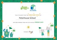 Green Flag awarded to Peterhouse School